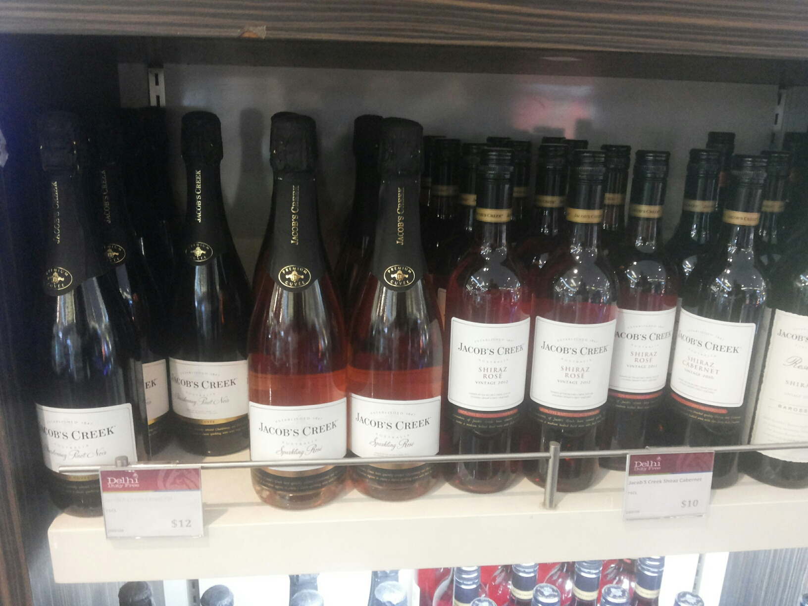 Jacobs Creek Rosé Brut at Delhi Duty Free